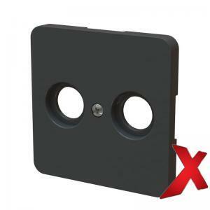 Keskiölevy TV+R Musta DesignX