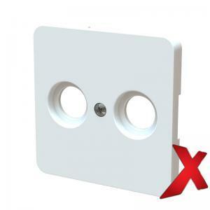 Keskiölevy TV+R Valkoinen DesignX