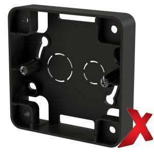 Musta 1-osainen pintakehys DesignX, S-kytkimille, korkeus 20mm.