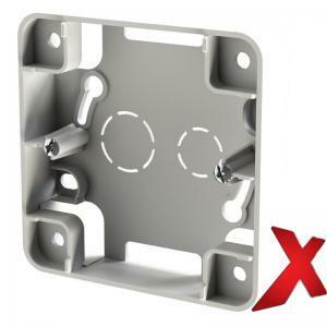 Valkoinen 1-osainen pintakehys DesignX, S-kytkimille, korkeus 20mm.