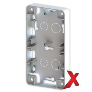 Valkoinen 2-osainen pintakehys DesignX, S-kytkimille, korkeus 20mm.