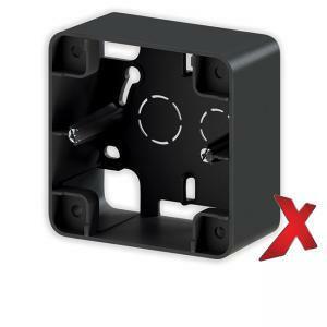 Musta 1-osainen pintakehys DesignX, S-sähkökalusteille, korkeus 40mm.