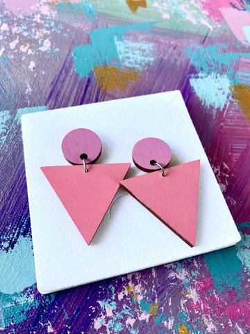 Triangeli lila-pinkki