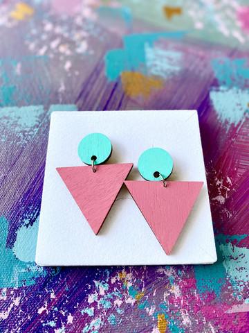 Triangeli turkoosi-pinkki