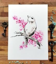 Taideprintti - BIRDS&LILACS, Renegade fool