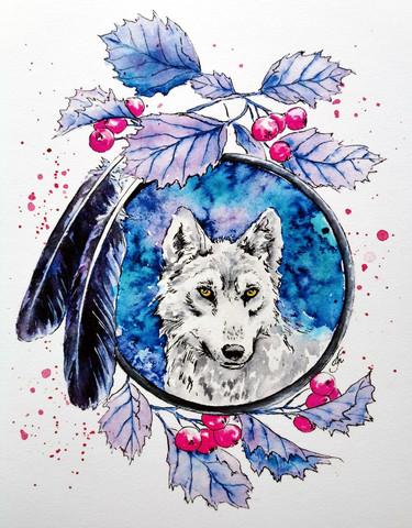 Taideprintti -SPIRIT WOLF, Renegade Fool