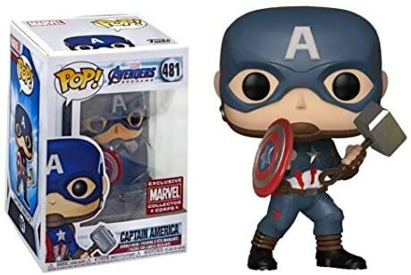Funko Pop! Marvel: Endgame - Captain America (With Mjolnir)