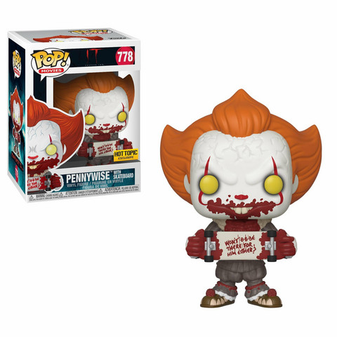 Funko Pop! Movies: IT - Pennywise With Skateboard