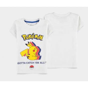Pokémon - Pika Silhouette - Girls Short Sleeved T-shirt
