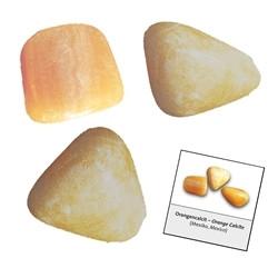 Keltainen kalsiitti - rumpuhiottu