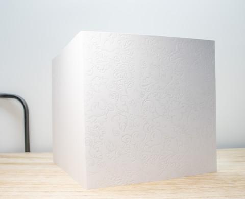Gothic valkoinen - neliökortti