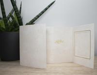 9 x 12 Vaaleanruskea marmorikuvioitu kiitoskortti