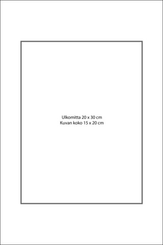 Paspatuuri 20 x 30 cm ulkomitalla