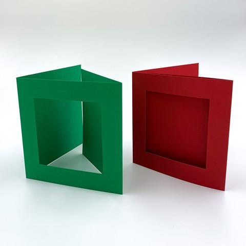 3-osainen neliökorttipohja aukolla
