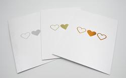 13 x 18 Kolme sydäntä - kiitoskortti