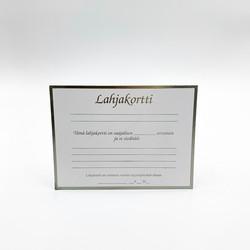 Lahjakorttipohja valkoinen helmiäinen 5 kpl