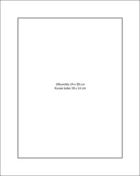 Paspatuuri 24 x 30 cm ulkomitalla