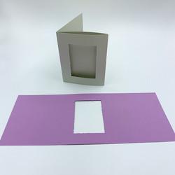 3-osainen korttipohja aukolla