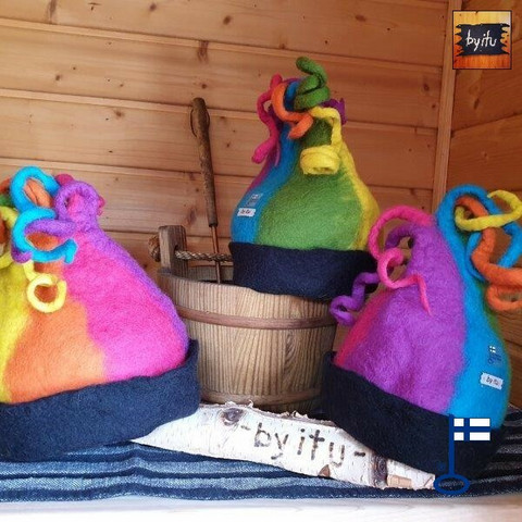 Satu-saunahattu Löylynhenki Lämpöinen - valmistetaan tilauksesta