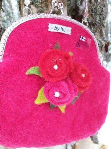 Leea-laukku Pinkki Ruusu
