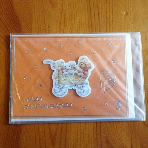 Onni-kortti 3-vuotta Hyvää Syntymäpäivää