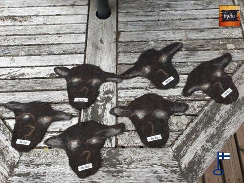 Lasse lasinalunen Lammas Musta