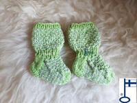 Topias-sukat vaaleanvihreä-hopea ensisukat T00-17