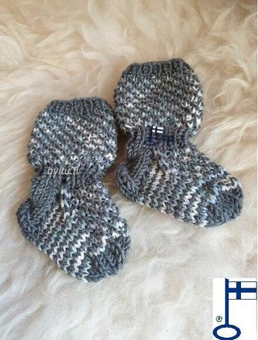 Topias-sukat Arkista harmaata kimaltaa ensisukat T00-17