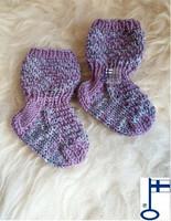 Topias-sukat Lila kimaltaa ensisukat T00-17