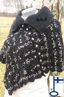 Sari-poncho Musta timantti