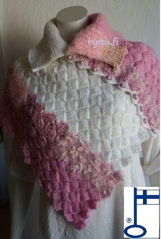 Sari-poncho Vaaleanpunaistaunelmaa
