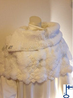 Sari-poncho Valkoinen blingbling