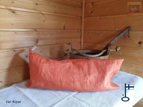 Saima-saunatyynyn päällinen Kupari n. 23x50 cm