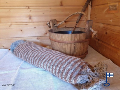 Sanna-Sakari-saunatyyny Pellava-kaarna