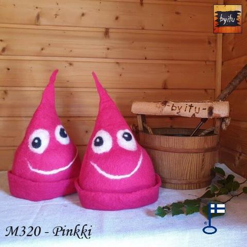 Satu-saunahattu PaskaPäivä Perjantai Pinkki - S