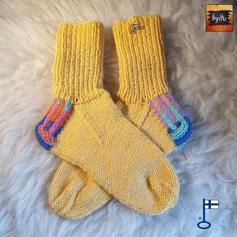 Itu sukat Randomkantapäät Keltainen N38-39