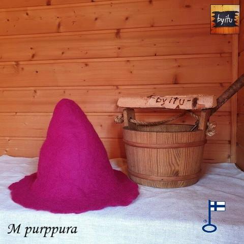 Satu-saunahattu Anoppi saunoo S - M Purppura