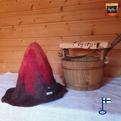 Satu-saunahattu Anoppi saunoo S - Tulivuori