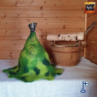 Satu-saunahattu Anoppi Vihtoo M - Vanha vihreä SAUNA