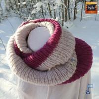 Tuukka-tuubihuivi Harmaa Kanerva