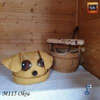 Satu-saunahattu HauHauJeppe - M keltainen Labradorinnoutaja