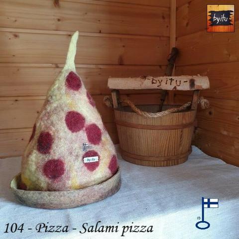 Satu-saunahattu Pizza - M - Salami Pizza