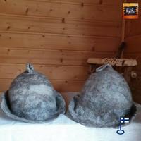Satu-saunahattu Saunaperinne kierrätys villasta - Ei valepesä L