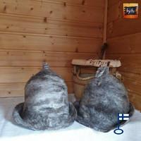 Satu-saunahattu Saunaperinne kierrätys villasta - Ei valepesä M
