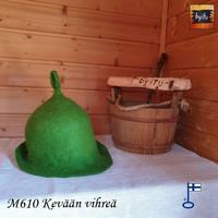 Satu-saunahattu Saunaperinne Kevään vihreä M