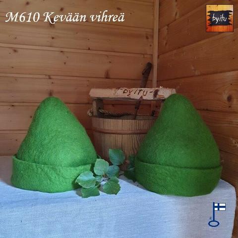 Satu-saunahattu Hukkapätkä Kevään vihreä L