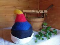 Satu-saunahattu Saunatonttu - Moniväri tai kuvioitu - valmistetaan til