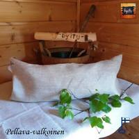 Sanna-saunatyyny Pellava kalanruoto Pellava-valkoinen