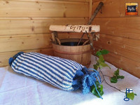 Sakari-saunatyynyn päällinen simppeli vaaka tai pysytyraita valmisteta