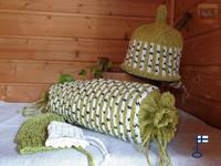 Sakari-saunatyynyn päällinen mm. Koivikko valmistetaan tilauksesta